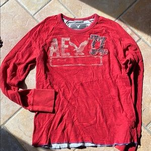 American Eagle red long sleeve